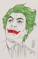 "Tom Hodges - The Joker - Cesar Romero - ""Batman"" - DC Comics - Signed ORIGINAL 5.5"" x 8.5"" Drawing on Paper (1/1) at PristineAuction.com"