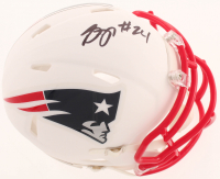 Stephon Gilmore Signed Patriots Matte White Speed Mini Helmet (PSA COA) at PristineAuction.com