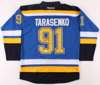 Vladimir Tarasenko Signed Blues Jersey (JSA COA) at PristineAuction.com