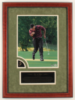 Tiger Woods Signed LE 22x30 Custom Framed Photo Display (UDA Hologram) at PristineAuction.com
