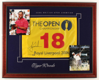 Tiger Woods Signed LE 2006 The Open Championship 32x25.5 Custom Framed Pin Flag Display (UDA Hologram) at PristineAuction.com