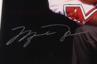 Michael Jordan & Larry Bird Signed 21x25 Custom Framed Photo Display (UDA Hologram) at PristineAuction.com