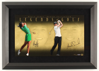 Nancy Lopez & Annika Sorrenstam Signed LE 28x20 Custom Framed Photo Display (UDA Hologram) at PristineAuction.com