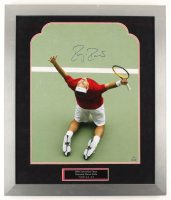 Roger Federer Signed LE 23x27 Custom Framed Photo Display (Steiner COA) at PristineAuction.com