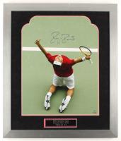 Roger Federer Signed LE 23x27 Custom Framed Photo Display (Steiner COA) at PristineAuction.com