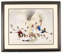 Roger Federer Signed LE 26.5x22.5 Custom Framed Photo Display (Steiner COA) at PristineAuction.com