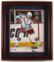 Mark Messier Signed Rangers 23x27x2 Custom Framed Photo Shadowbox Display (Steiner COA) at PristineAuction.com
