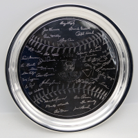 """1953 New York Yankees """"5 Straight World Series"""" Team Member Silver Plate at PristineAuction.com"""