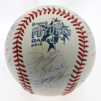 2010 All-Star Futures Game Baseball Signed by (22) with Mike Trout, Rod Nicols, Steve Decker, Tony Franklin (MLB Hologram) at PristineAuction.com