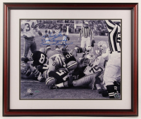 """Bart Starr Signed Packers 26x24 Custom Framed Photo Display Inscribed """"67 NFL Champs"""" & """"Packers 21 Cowboys 17"""" (Tristar Hologram) at PristineAuction.com"""