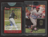 Lot of (2) Encapsulated Signature Baseball Cards with Certified Autograph Issue 2006 Bowman Originals #174 Dontrelle Willis & 2017 Postseason Archives 1995 Stadium Club #559 Charlie Hayes at PristineAuction.com