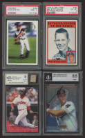 Lot of (4) Encapsulated Baseball Cards with 1995 Best #128 Darin Erstad (PSA 9), 1972 O-Pee-Chee #492 Mel Stottlemyre (PSA 6), 1994 Leaf #313 Eddie Murray with Game-Used Bat Piece (BCCG 9) & 1995 Bowman's Best #B10 Richie Sexson RC at PristineAuction.com