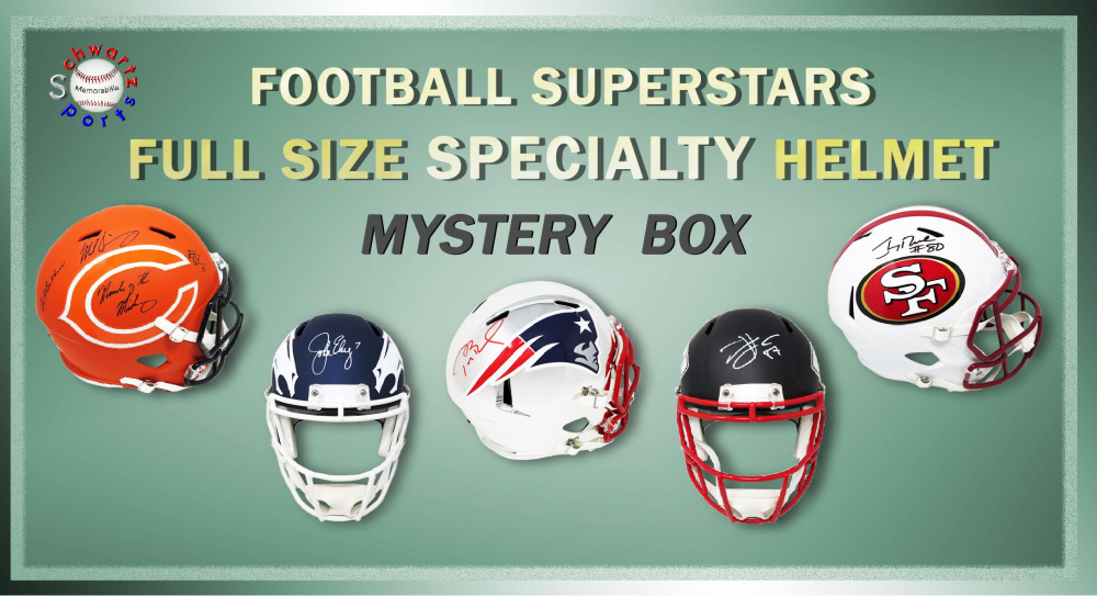 Schwartz Sports Football Superstar Signed Full Size Specialty Helmet Mystery Box – Series 2 (Limited to 100) (ALL ARE SPECIALTY HELMETS!!) at PristineAuction.com