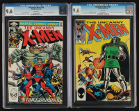 Lot of (2) CGC Graded 9.6 Uncanny X-Men Marvel Comic Books with 1982 #156 & 1985 #197 at PristineAuction.com