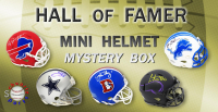 Schwartz Sports Football Hall of Famer Signed Mini Helmet Mystery Box – Series 8 (Limited to 75) at PristineAuction.com