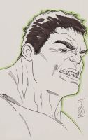 "Tom Hodges - The Hulk - Marvel Comics - Signed ORIGINAL 5.5"" x 8.5"" Drawing on Paper (1/1) at PristineAuction.com"