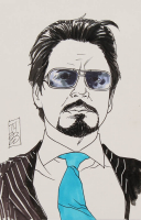 "Tom Hodges - Tony Stark - ""Iron Man"" - Marvel Comics - Signed ORIGINAL 5.5"" x 8.5"" Drawing on Paper (1/1) at PristineAuction.com"