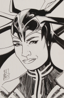 "Tom Hodges - Hela - ""Thor"" - Marvel Comics - Signed ORIGINAL 5.5"" x 8.5"" Drawing on Paper (1/1) at PristineAuction.com"
