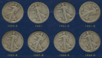 Complete Set of (45) 1916-1940 Walking Liberty Half Dollars at PristineAuction.com