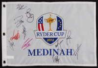 2012 Ryder Cup Gold Pin Flag Signed by (11) with Justin Rose, Rory McLlroy, Sergio Garcia, Francesco Molinari, Luke Donald (JSA ALOA) at PristineAuction.com