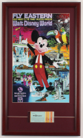 Vintage Disneyworld 15x25 Custom Framed Print Display with Vintage Ticket Booklet at PristineAuction.com