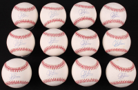 Lot of (12) Jed Lowrie Signed OML Baseballs (YSMS COA) at PristineAuction.com