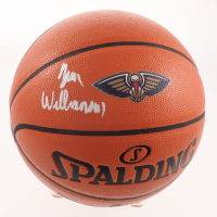 Zion Williamson Signed Pelicans Logo NBA Game Ball Series Basketball (Fanatics Hologram) at PristineAuction.com