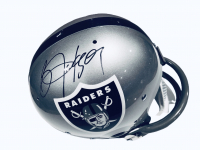 Bo Jackson Signed Raiders Full-Size Throwback Suspension Helmet (Beckett COA) at PristineAuction.com