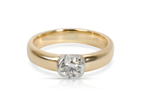 Tiffany & Co. 1.02ct Diamond Solitaire Engagement Ring 18kt Yellow Gold & Platinum (GIA Certified) at PristineAuction.com