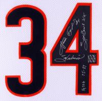 "Walter Payton Signed 35x43 Custom Framed Jersey Inscribed ""Sweetness"", ""75-87"", ""Super Bowl XX"" & ""16,726"" (Payton Hologram) at PristineAuction.com"