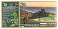 Justin Rose Signed Torrey Pines North Course 6x12 Print (PSA COA) at PristineAuction.com