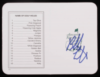 Bubba Watson Signed Masters Augusta National Golf Club 5x6 Scorecard (PSA COA) at PristineAuction.com