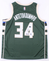 "Giannis Antetokounmpo Signed Bucks Jersey Inscribed ""MVP 18"" (Radtke COA) at PristineAuction.com"