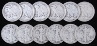 Lot of (12) 1935-47 Walking Liberty Silver Half Dollars at PristineAuction.com