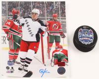 Lot of (2) Chris Kreider Signed Rangers Logo Items with Hockey Puck & 8x10 Photo (Kreider COA) at PristineAuction.com