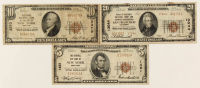 Lot of (3) 1929 U.S. National Currency Bank Notes with $20, $10, & $5 at PristineAuction.com
