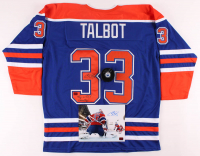 """Lot of (3) Cam Talbot Signed Oilers Logo Items with, Hockey Puck, 8x10 Photo & Jersey Inscribed """"This is Oil Country!"""" (Talbot COA) at PristineAuction.com"""
