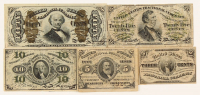 1864-1869 Third Issue Denomination Set of (5) U.S. Fractional Currency Bank Notes with 3¢, 5¢, 10¢, 25¢, & 50¢ at PristineAuction.com