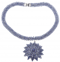 39.48ct Tanzanite Starburst Necklace (AIG Appraisal) at PristineAuction.com