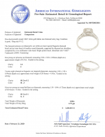 1.00ct Diamond Engagement Ring Halo 14kt White Gold (AIG Appraisal) at PristineAuction.com