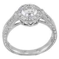 .80ct Diamond Engagement Ring 14kt White Gold (AIG Appraisal) at PristineAuction.com