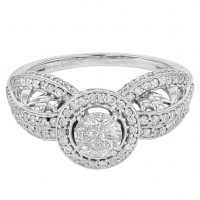 1.40ct Diamond Engagement Ring 14kt White Gold (AIG Appraisal) at PristineAuction.com