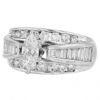 1.49ct Diamond Engagement Ring 14kt White Gold (AIG Appraisal) at PristineAuction.com