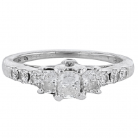 1.00ct Diamond Engagement Ring 14kt White Gold (AIG Appraisal) at PristineAuction.com