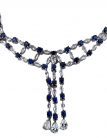 45.32ct Sapphire & White Topaz Necklace (AIG Appraisal) at PristineAuction.com