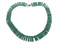 55.00ct Emerald Necklace (GAL Appraisal) at PristineAuction.com