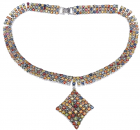 75.00ct Multi-Colored Sapphire & Ruby Necklace (GAL Appraisal) at PristineAuction.com