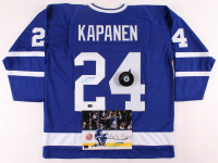 Lot of (3) Kasperi Kapanen Signed Maple Leafs Logo Items with, Jersey, Hockey Puck, & 8x10 Photo (Kapanen COA) at PristineAuction.com