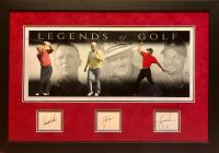 """Arnold Palmer, Jack Nicklaus & Tiger Woods Signed """"Legends of Golf"""" 24x35 Custom Framed Cut Display (JSA LOA & JSA COA) at PristineAuction.com"""