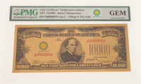 """1934 $10,000 Ten Thousand Dollar """"Smithsonian Edition"""" Gold Certificate (PMG GEM Uncirculated) at PristineAuction.com"""